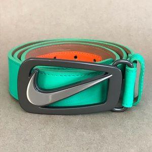Mens Nike Golf Green Leather Belt Grip Tech Sz 36